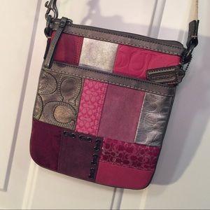 Coach Holiday Patchwork Swingpack / Crossbody Bag